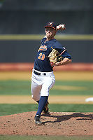 Virginia Cavaliers relief pitcher Blake Rohm (29) in action against the Wake Forest Demon Deacons at David F. Couch Ballpark on May 19, 2018 in  Winston-Salem, North Carolina. The Demon Deacons defeated the Cavaliers 18-12. (Brian Westerholt/Four Seam Images)