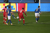 Football: Uefa Nations League Group A match Italy vs Poland at Mapei stadium, Città del Tricolore in Reggio Emilia, on Novemner 15, 2020.<br /> Italy's Jorginho kicks a penalty and scores during the Uefa Nations League match between Italy and Poland at Mapei  stadium  città del Tricolore in Reggio Emillia, on November 15, 2020. <br /> UPDATE IMAGES PRESS/Isabella Bonotto