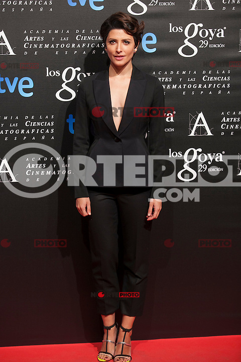 Barbara Lennie poses before the 2015 Goya Awards nominee ceremony in Madrid, Spain. January 19, 2015. (ALTERPHOTOS/Victor Blanco)