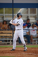 New York Yankees second baseman Nick Solak (2) at bat during an Instructional League game against the Pittsburgh Pirates on September 29, 2017 at the Yankees Minor League Complex in Tampa, Florida.  (Mike Janes/Four Seam Images)