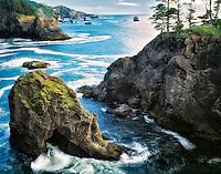 The Oregon coastline. Boardman State Park.
