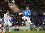 St Johnstone v Celtic...15.05.15   SPFL<br /> James McFadden's header hits the post<br /> Picture by Graeme Hart.<br /> Copyright Perthshire Picture Agency<br /> Tel: 01738 623350  Mobile: 07990 594431