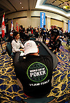 A view of the table action during round 2 ofthe World Cupof Poker