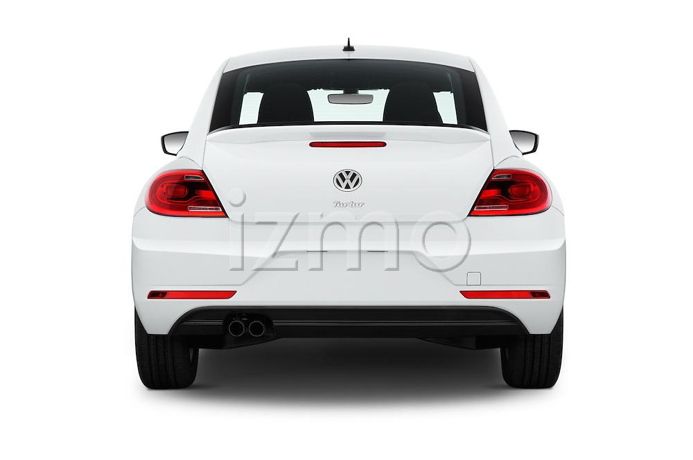 Straight rear view of 2017 Volkswagen Beetle S 3 Door Hatchback Rear View  stock images