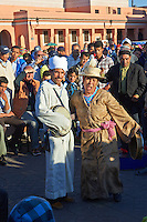 Entertainers in the Jemaa el-Fnaa square in  Marrakech, Morocco