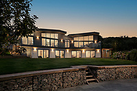 BNPS.co.uk (01202 558833)<br /> Pic: Rohrs&Rowe/BNPS<br /> <br /> An exceptional contemporary clifftop home with panoramic views of not one, but two beaches is on the market for offers over £2m.<br /> <br /> Seascape is a brand new home, completed earlier this year and never lived in, that has a frontline spot next to Porthpean Beach and Duporth Beach.<br /> <br /> The sleek four-bedroom home in the village of Porthpean, Cornwall, has incredible sea views from almost every room, a full width balcony and a gate in the garden straight onto the South West Coast Path.