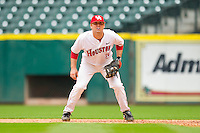 First baseman David Murphy #10 of the Houston Cougars on defense against the Baylor Bears at Minute Maid Park on March 4, 2011 in Houston, Texas.  Photo by Brian Westerholt / Four Seam Images