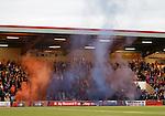 Rangers fans pyro