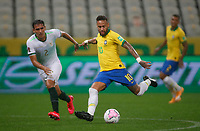 9th October 2020; Arena Corinthians, Sao Paulo, Sao Paulo, Brazil; FIFA World Cup Football Qatar 2022 qualifiers; Brazil versus Bolivia; Neymar of Brazil takes a shot on goal