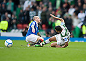 :: CELTIC'S EMILIO IZAGUIRRE GETS A STRAIGHT RED FOR THIS CHALLENGE ON RANGERS' VLADIMIR WEISS ::