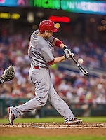 20 May 2014: Cincinnati Reds infielder Todd Frazier in action against the Washington Nationals at Nationals Park in Washington, DC. The Nationals defeated the Reds 9-4 to take the second game of their 3-game series. Mandatory Credit: Ed Wolfstein Photo *** RAW (NEF) Image File Available ***