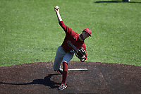 South Carolina Gamecocks starting pitcher Brannon Jordan (22) in action against the Vanderbilt Commodores at Hawkins Field on March 20, 2021 in Nashville, Tennessee. (Brian Westerholt/Four Seam Images)