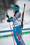 MARTELL-VAL MARTELLO, ITALY - FEBRUARY 02: BOROVCANIN Snezana (BIH) after the Women 7.5 km Sprint at the IBU Cup Biathlon 6 on February 02, 2013 in Martell-Val Martello, Italy. (Photo by Dirk Markgraf)