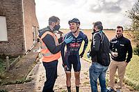 crash victim Senne Leysen (BEL/Alpecin-Fenix)<br /> <br /> 82nd Gent-Wevelgem in Flanders Fields 2020 (1.UWT)<br /> 1 day race from Ieper to Wevelgem (232km)<br /> <br /> ©kramon