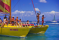 Waikiki Beach, Na Hoku Catamaran ride