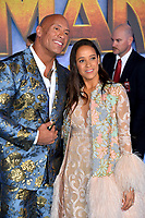 "LOS ANGELES, USA. December 10, 2019: Dwayne Johnson & Dania Ramirez at the world premiere of ""Jumanji: The Next Level"" at the TCL Chinese Theatre.<br /> Picture: Paul Smith/Featureflash"