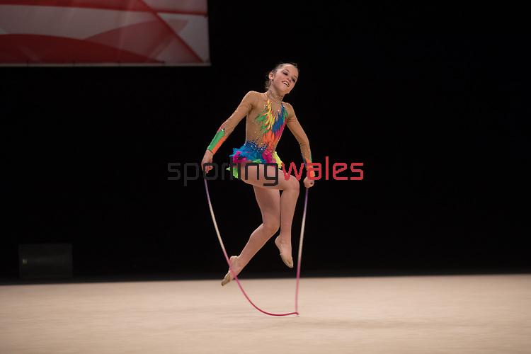 British Gymnastics Championships 2017<br /> Eirlys Jones<br /> Liverpool Echo Arena<br /> 29.07.17<br /> ©Steve Pope - Sportingwales