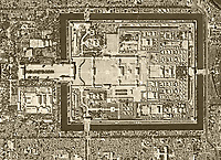 historical aerial photograph Tiananmen Square Beijing, China, 1966