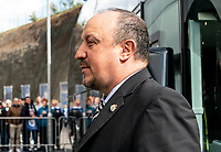 Newcastle United manager Rafa Benitez arriving ahead of the Premier League match between Brighton and Hove Albion and Newcastle United at the AMEX Stadium, Brighton and Hove, England on 27 April 2019. Photo by Liam McAvoy.