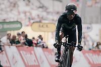 Nairo Quintana (COL/Movistar) finishing<br /> <br /> 104th Tour de France 2017<br /> Stage 20 (ITT) - Marseille › Marseille (23km)