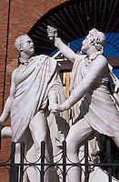 Spanien, Plaza  Dos de Mayo in Madrid, Denkmal zur Erinnerungan den Widerstand gegen die Franzosen am 2. Mai 1808