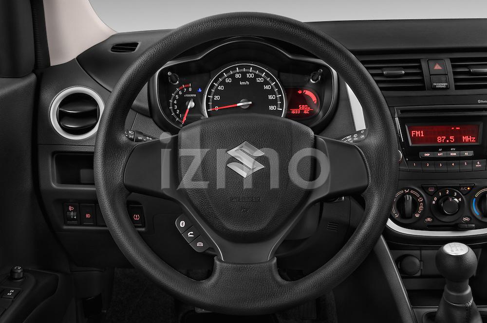 Car pictures of steering wheel view of a 2015 Suzuki CELERIO Grand Luxe Xtra 5 Door Hatchback Steering Wheel