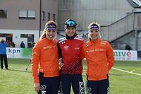SPEED SKATING: COLLALBO: Arena Ritten, 12-01-2019, ISU European Speed Skating Championships, Antoinette de Jong, Martina Sablikova (CZE), Carlijn Achtereekte (NED), ©photo Martin de Jong