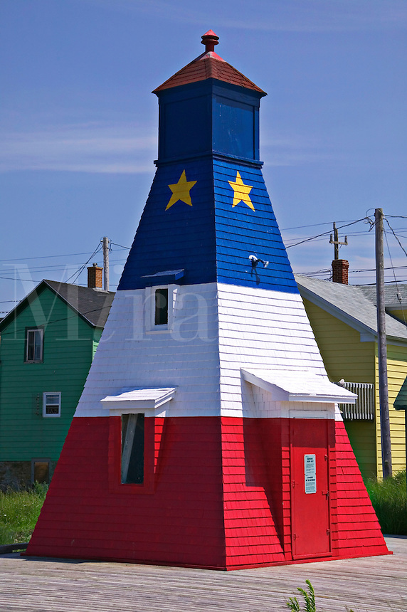 Red while and blue lighthouse