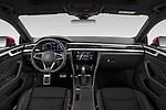 Stock photo of straight dashboard view of 2021 Volkswagen Arteon-SB R-Line 5 Door Wagon Dashboard