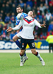 St Johnstone v Rangers....13.05.12   SPL.Stephen Whittaker is clattered by Callum Davidson.Picture by Graeme Hart..Copyright Perthshire Picture Agency.Tel: 01738 623350  Mobile: 07990 594431