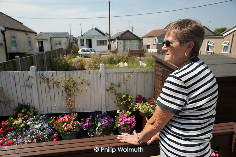 Janet Sharp in her renovated and extended bungalow on the Brooklands Estate in Jaywick Sands, close to the Essex resort of Clacton-on-Sea.  The estate is the most deprived ward in the UK, according to the latest Indices of Multiple Deprivation.