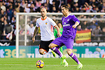 Cristiano Ronaldo (r) of Real Madrid fights for the ball with Simone Zaza of Valencia CF  during their La Liga match between Valencia CF and Real Madrid at the Estadio de Mestalla on 22 February 2017 in Valencia, Spain. Photo by Maria Jose Segovia Carmona / Power Sport Images