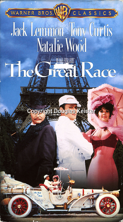 The New York to Paris race was celebrated, albeit with considerable artistic license, in the 1965 motion picture The Great Race, starring Tony Curtis as Leslie Galant III, Jack Lemmon as Professor Fate, and Natalie Wood as suffragette Maggie Dubois. Four loose interpretations of the Thomas Flyer were created for the movie.