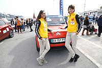 Equipage 500 E-GAZELLE Nezha Larhrissi et Pilar Cabelos - 27Ëme Èdition du Rallye 'Aicha des Gazelles' au dÈpart de la ville de Nice, le samedi 18 mars 2017. # DEPART DU RALLYE 'AICHA DES GAZELLES' A NICE