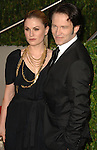 Anna Paquin & Stephen Moyer attends The 2010 Vanity Fair Oscar Party held at The Sunset Tower Hotel in West Hollywood, California on March 07,2010                                                                                       © 2010 DVS / RockinExposures..