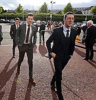 Pictured L-R: Jack Wells and Ben Donovan arrives Wednesday 20 May 2015<br />