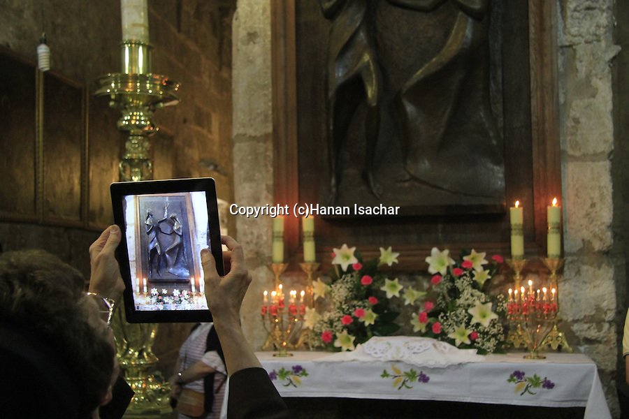 Israel, Jerusalem, The feast of Corpus Christi at the Church of the Holy Sepulchre, the altar of St. Mary Magdalene