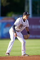Syracuse Chiefs shortstop Trea Turner (7) during a game against the Louisville Bats on June 6, 2016 at NBT Bank Stadium in Syracuse, New York.  Syracuse defeated Louisville 3-1.  (Mike Janes/Four Seam Images)