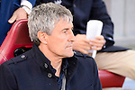 UD Las Palmas Quique Setien during La Liga match between Atletico de Madrid and UD Las Palmas at Vicente Calderon Stadium in Madrid, Spain. December 17, 2016. (ALTERPHOTOS/BorjaB.Hojas)