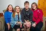 Dean Rusk from St Brendans Park celebrating his 18th birthday at home on Thursday. Seated l to r: Noreen, Meghan, Dean and Shauna Rusk.
