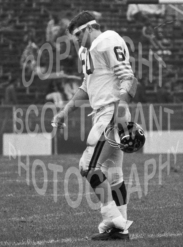 Larry Nels BC Lions 1971. Copyright photograph Ted Grant