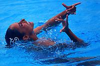 BARRANQUILLA - COLOMBIA, 31-07-2018:  Nuria Diosdado, de México, durante su participación en la prueba Solo Libre de Nado Sincronizado, en el Complejo Acuático Distrital Eduardo Movilla, como parte de los Juegos Centroamericanos y del Caribe Barranquilla 2018. / Nuria Diosdado, from Mexico, during her participation in the Free Solo Synchronized Swimming,test, in the Eduardo Movilla District Aquatic Complex, as a part of the Central American and Caribbean Sports Games Barranquilla 2018. Photos: VizzorImage / Cont.
