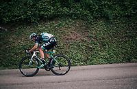 Aleksejs Saramotins(LAT/BORA-hansgrohe)<br /> <br /> Stage 5: Grenoble > Valmorel (130km)<br /> 70th Critérium du Dauphiné 2018 (2.UWT)