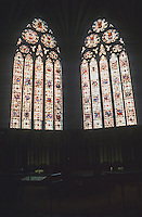 York: York Minster--2 windows of Chapter House. Photo '87.
