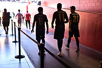 Santa Clara, CA - Sunday July 22, 2018: Juan Mata, Anthony Martial, Ander Herrera during a friendly match between the San Jose Earthquakes and Manchester United FC at Levi's Stadium.