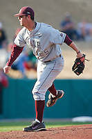 Nick Grimmett (25) during the NCAA matchup between the University of Arkansas-Little Rock Trojans and the University of Oklahoma Sooners at L. Dale Mitchell Park in Norman, Oklahoma; March 11th, 2011.  Oklahoma won 11-3.  Photo by William Purnell/Four Seam Images