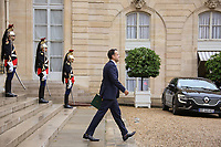 LEO VARADKAR - LE PREMIER MINISTRE D'IRLANDE LEO VARADKAR QUITTE LE PALAIS DE L'ELYSEE, PARIS, FRANCE, LE 24/10/2017.