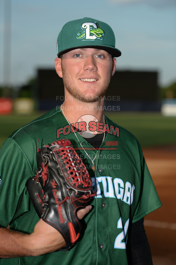 Daytona Tortugas pitcher Joel Bender (20) poses for a photo before a game against the Tampa Yankees on April 24, 2015 at George M. Steinbrenner Field in Tampa, Florida.  Tampa defeated Daytona 12-7.  (Mike Janes/Four Seam Images)