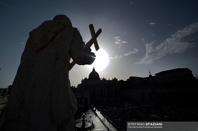 St. Peter's Square in the Vatican during the Pentecost vigil on June 8, 2019 Pope Francis   during  the Pentecost vigil on June 8, 2019