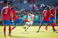 CARSON, CA - FEBRUARY 1: Sebastian Lletget #17of the United States takes a shot during a game between Costa Rica and USMNT at Dignity Health Sports Park on February 1, 2020 in Carson, California.